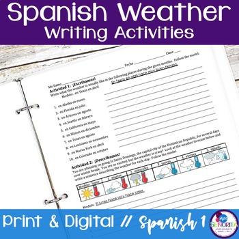 Spanish Weather Writing Activities