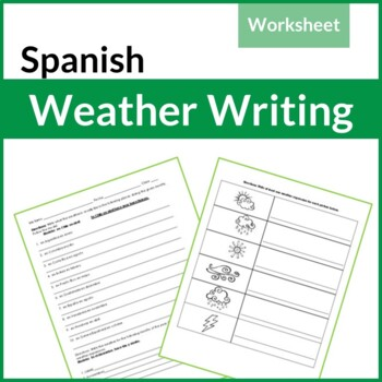 Spanish Weather Writing Worksheet