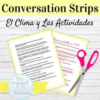 "Spanish Weather and Activities Conversation Strips: ""¿Qué te gusta hacer?"""