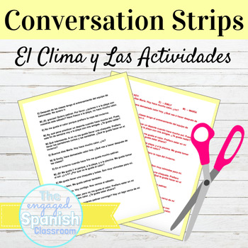 Spanish Weather and Activities Conversation Strips