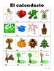 Spanish Weather and Calendar Vocabulary PICTURE Notes SET