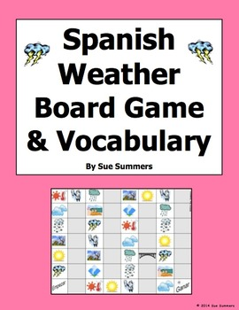 Spanish Weather and Climate Board Game and Vocabulary