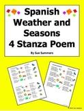 Spanish Weather and Seasons 4 Stanza Bilingual Poem - Las Cuatro Estaciones