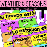 Spanish Weather and Seasons - Calendar Add-on! - La Estaci
