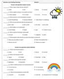 Spanish Weather and Seasons Listening with Audio OR Reading Comprehension