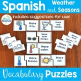 Spanish Weather and Seasons Puzzles