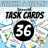 Spanish Weather and Seasons Task Cards