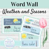Spanish Classroom Decor   Weather and Seasons Word Wall