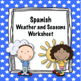 Spanish Weather and Seasons worksheet