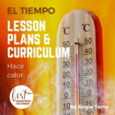 El tiempo Spanish Weather PowerPoint and Curriculum Distance Learning