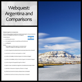Spanish WebQuest: Argentina, Comparisons, and Contrasts