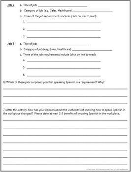Back to School Webquest - Which jobs require Spanish? CareerBuilder.com Webquest