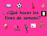 Spanish Teaching resources. Weekend Activities and Present Tense Powerpoint