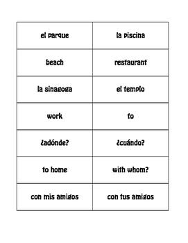 Spanish Weekend Buzz Game