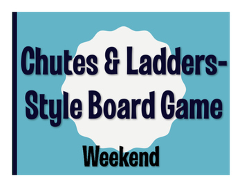 Spanish Weekend Chutes and Ladders-Style Game
