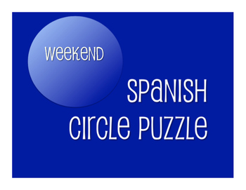 Spanish Weekend Circle Puzzle