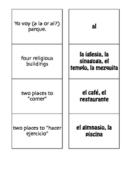 Spanish Weekend Matching Game