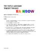 Spanish Weekend Rainbow Reading