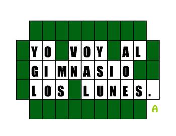 Spanish Weekend Wheel of Spanish