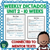 Spanish Weekly Dictado / Dictation Lesson Plans Unit 2