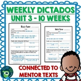 Spanish Weekly Dictado / Dictation Lesson Plans (Mentor Sentence Mania Unit 3)