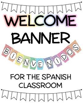 Spanish Welcome BIENVENIDOS Banner, Rainbow