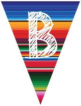 Spanish Welcome BIENVENIDOS Banner Serape Design