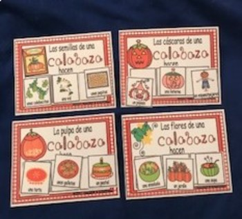 Spanish What Can Pumpkins Make Readers and Activities