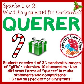 "Spanish - What do you want for Christmas? Interview Activity with ""Querer"""