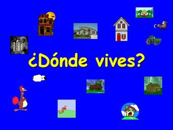 Spanish Teaching Resources. Where you live, kinds of home