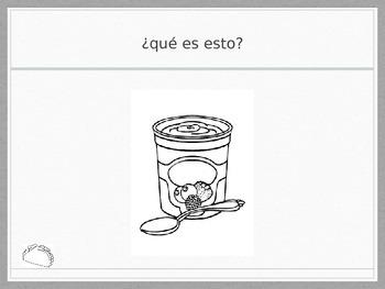 Spanish - Whiteboard Game - Drinks Breakfast
