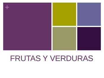 Spanish - Whiteboard Game - Fruits Vegetables