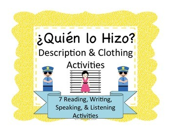 Spanish Whodunnit:  Description & Clothing Activities