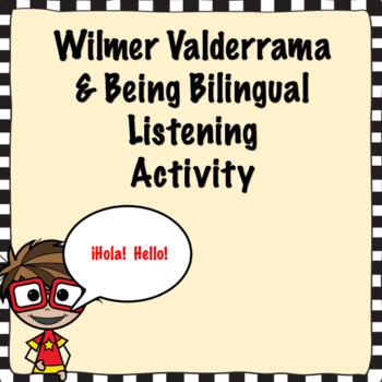 Spanish Wilmer Valderrama and being bilingual listening activity
