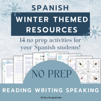 Spanish: Winter Activities PACKET! Invierno (great for Sub Plans!)