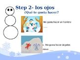 Spanish Winter Activities Snowman Glyph  Follow-along Powerpoint
