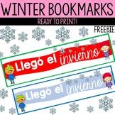 Spanish Winter Bookmarks - FREEBIE