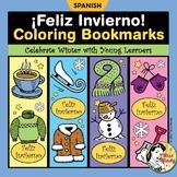 Spanish Winter Bookmarks for Coloring - El Invierno Marcad