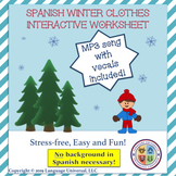Spanish Winter Clothes Worksheet!