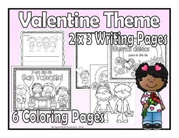 Spanish Winter Coloring & Writing Bundle
