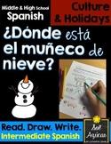 Spanish Winter - ¿Dónde está el muñeco de nieve? - Read and Draw Intermediate
