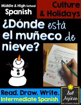 Spanish Winter - ¿Dónde está el muñeco de nieve? - Read an