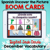 Spanish Winter Holidays and Clothing Boom Cards - No Prep