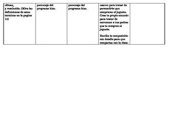 Spanish Winter Holidays Day-by-Day Homework Calendar