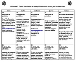 Spanish Winter Holidays Day-by-Day Homework Calendar
