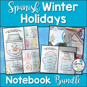Spanish Winter Holidays: Interactive Notebook Bundle