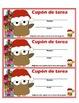 Spanish Winter Homework Pass - Cupón de tarea