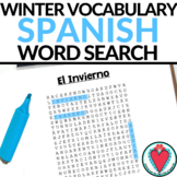 Spanish Winter Vocabulary - Spanish Word Search