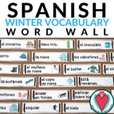 Spanish Winter Vocabulary - Spanish Word Wall - El Invierno