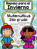 Spanish Winter Math Review - Repaso de Invierno Matemáticas